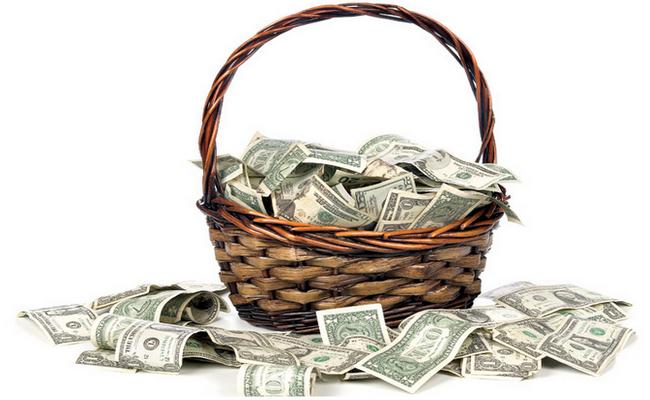 Корзина для денег своими руками