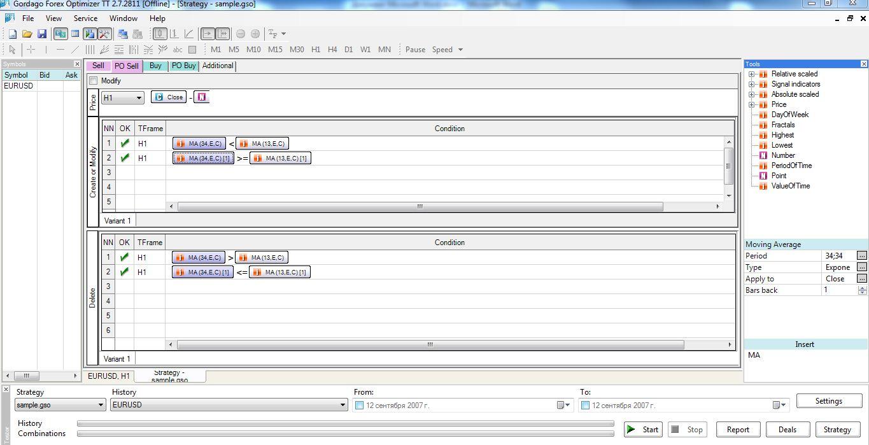 Конструктор советников forex strategy builder краны биткоин с моментальным выводом